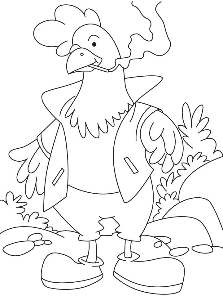 Rooster Coloring Pages Free Coloring Home