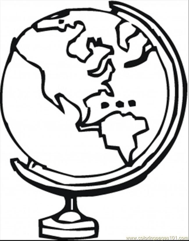 Coloring Pages Globe Technology Astronomy Free Printable Coloring Home
