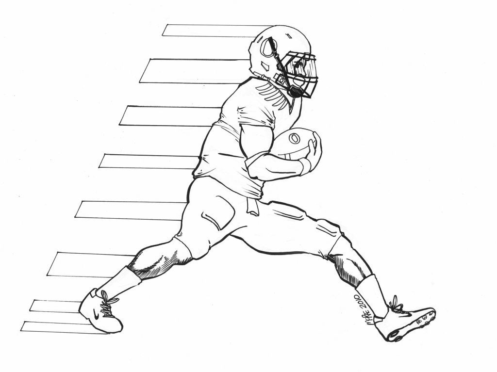 Football seahawks coloring page