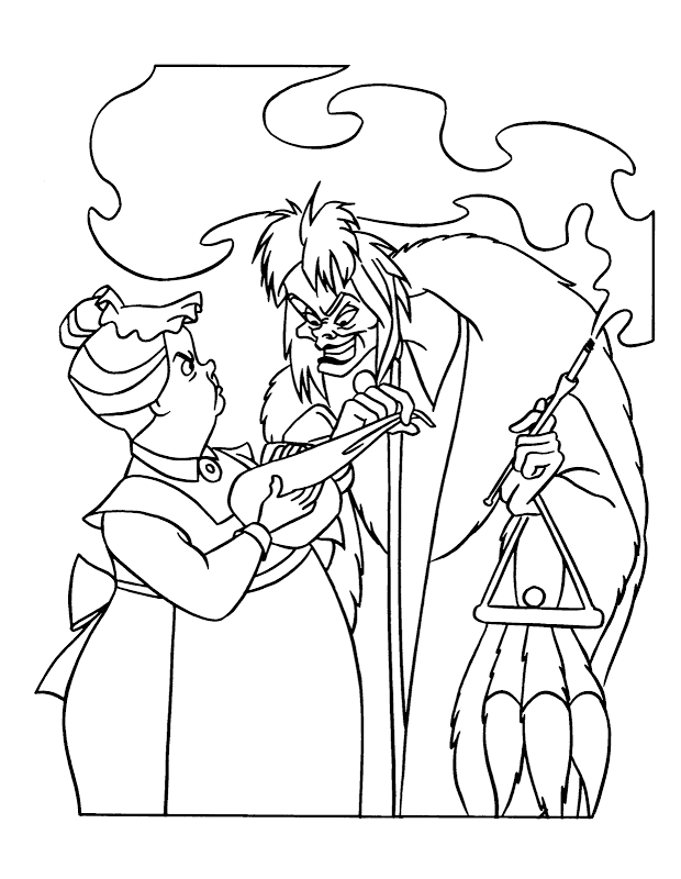 Cruella Deville Coloring Pages - Coloring Home