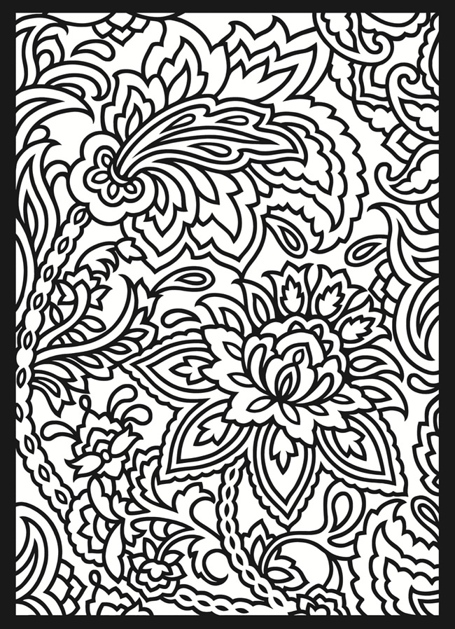 Coloring Book Patterns : coloringpages: Design Coloring Pages
