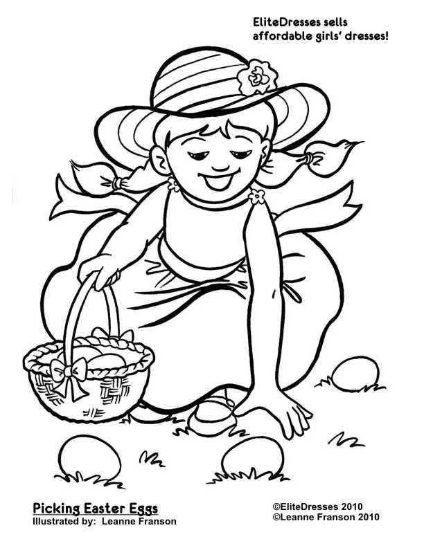 egg hunt coloring pages - photo#20
