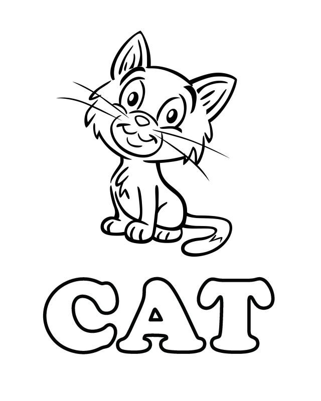 Cat - Free Printable Coloring Pages