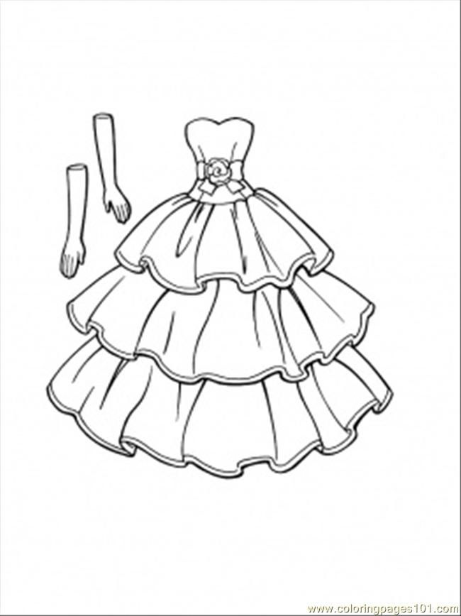 Dress Coloring Pages Home