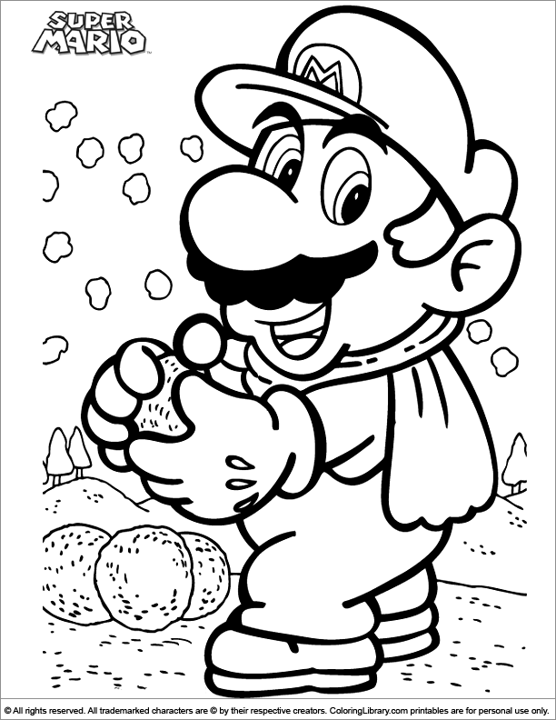 Printable Mario Brothers Coloring Pages - Coloring Home