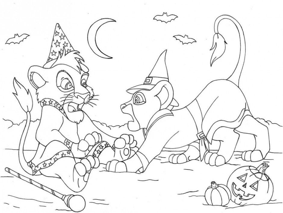 Disney Halloween Coloring Pages Pdf : Print the lion king halloween coloring pages or download