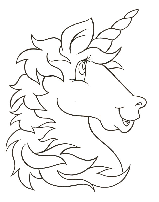 childrens coloring pages unicorn - photo#15
