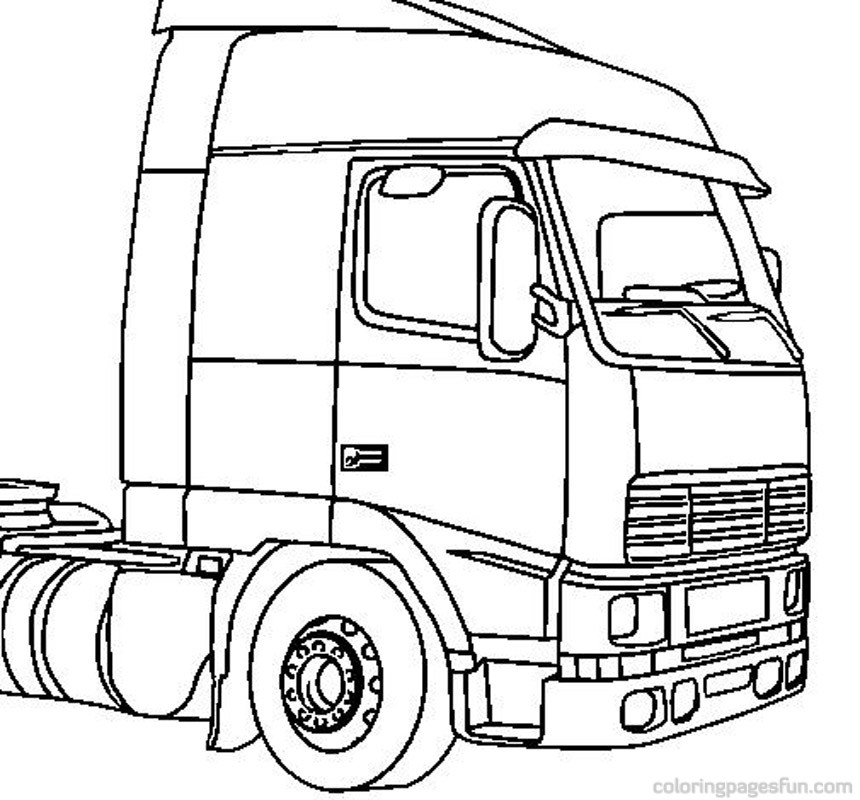 big truck coloring pages - photo#4