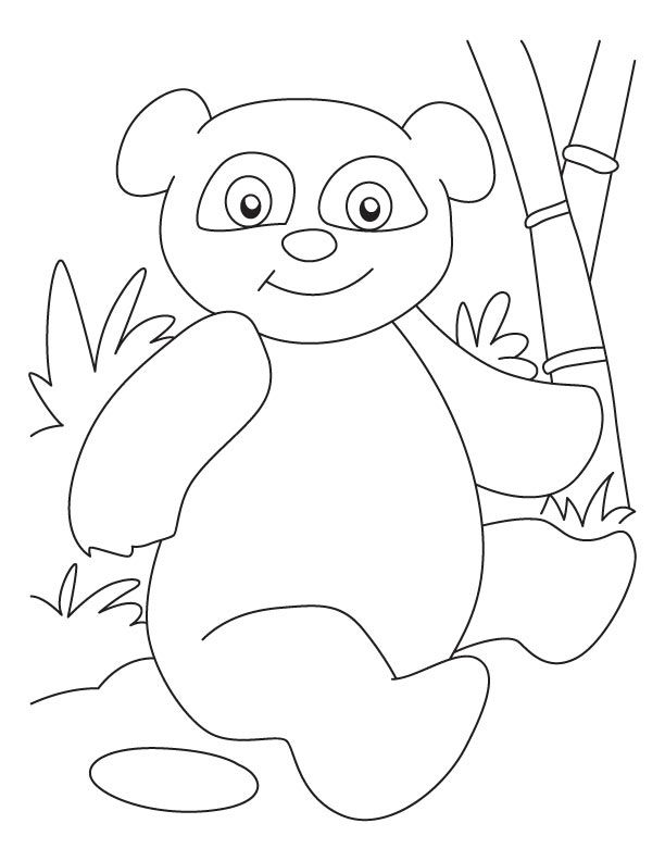 Baby Panda Coloring Pages - Coloring Home