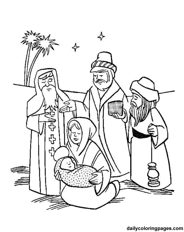 Christian Christmas Coloring Pages For Kids - Coloring Home
