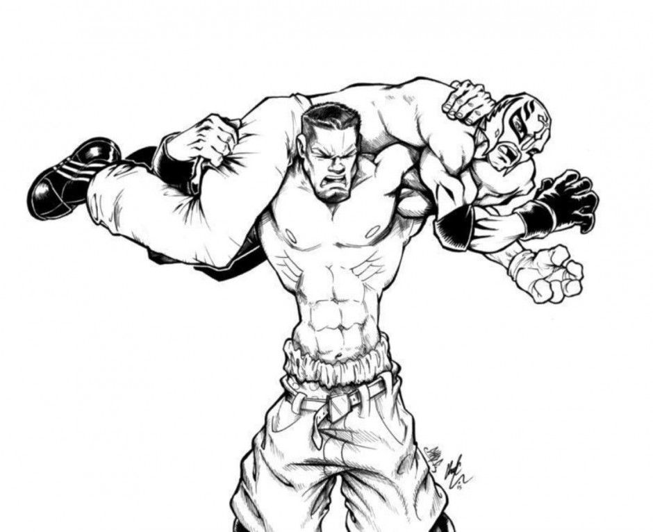 printable john cena coloring pages - photo#21