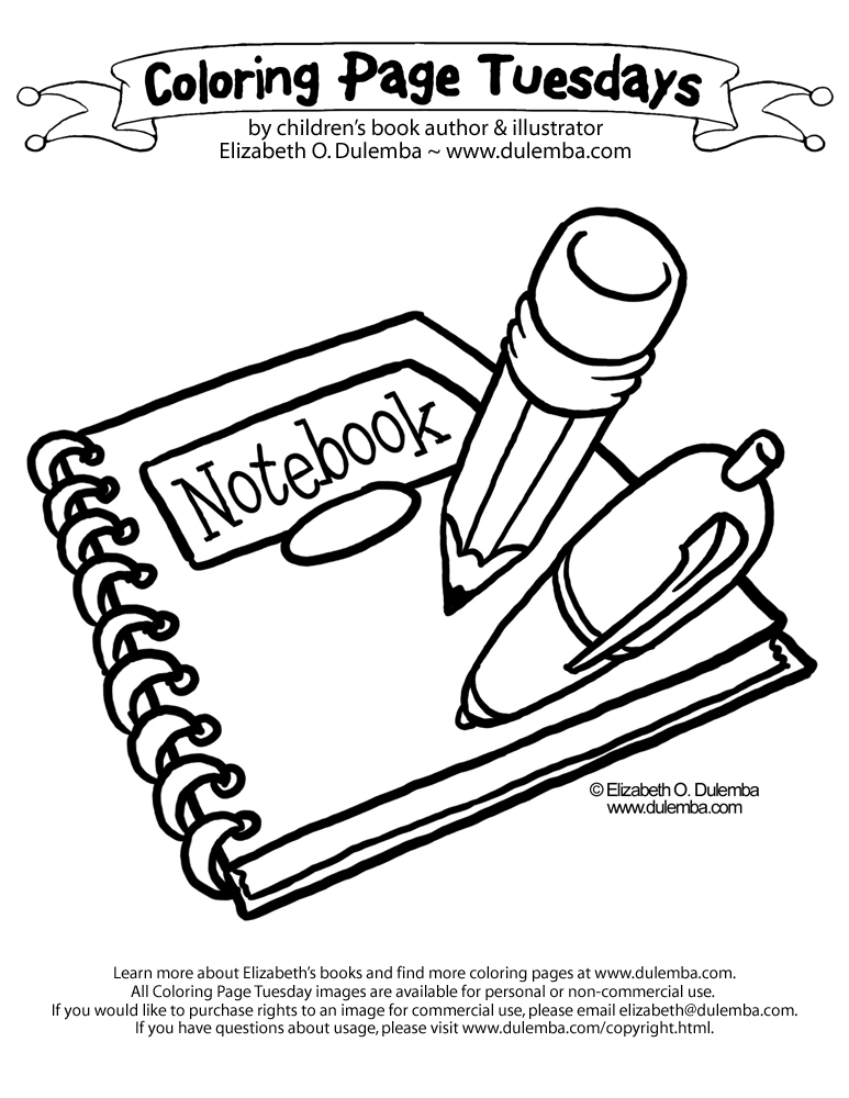 School Books Coloring Pages Dulemba Coloring Page Tuesday
