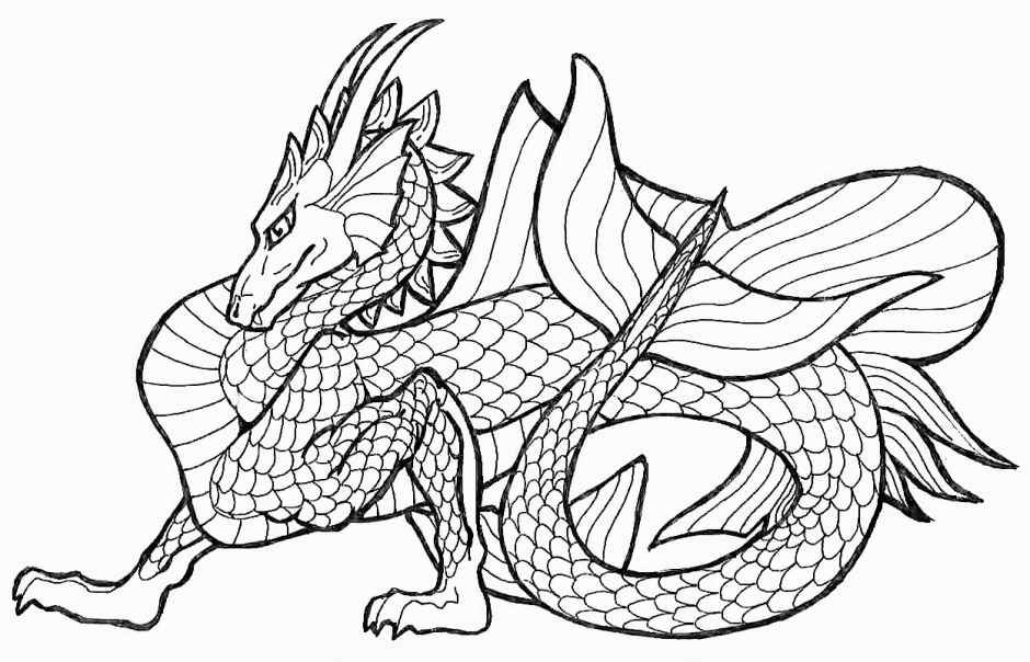 Realistic Water Dragon Coloring Pages Dragon Coloring Pages For