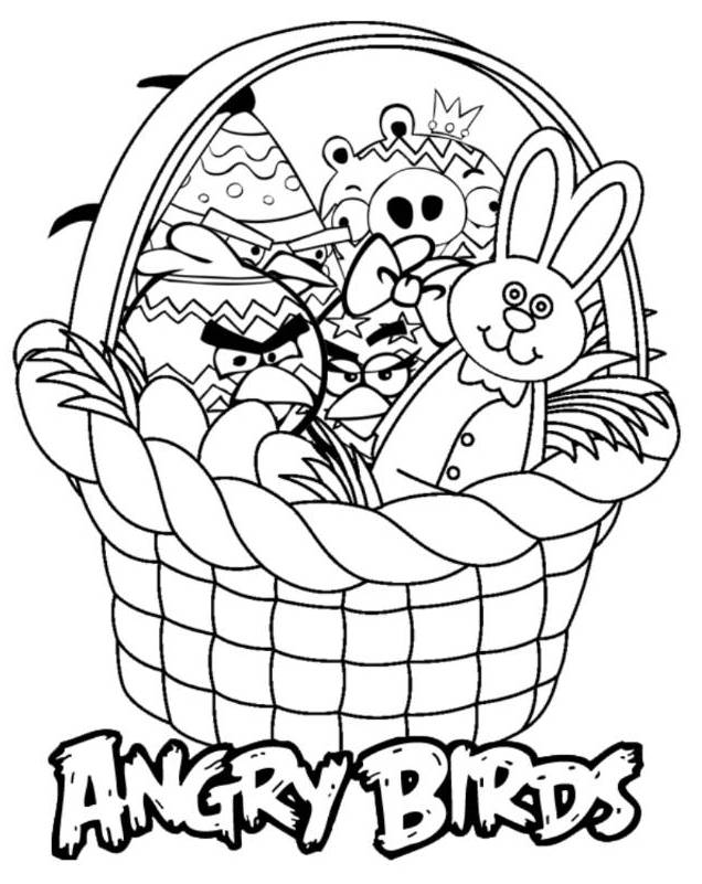 Printable Angry Birds Coloring Pages And Book