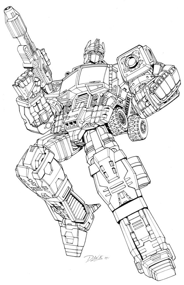 coloring pages optimus prime - photo#14