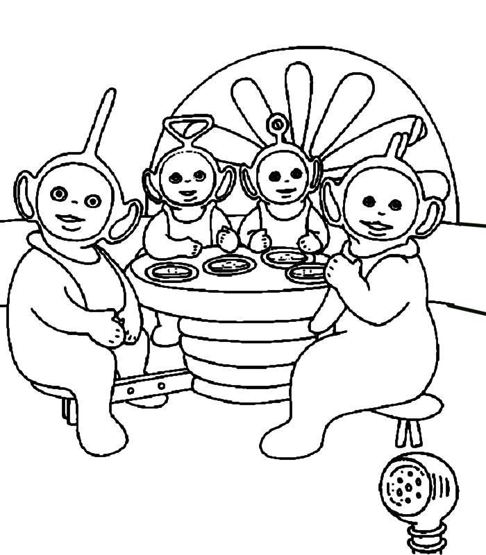 Picture Of Teletubbies  Coloring Home