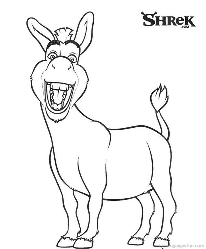 shreck coloring pages - photo#30