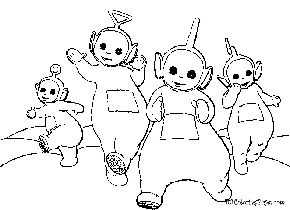 teletubbies coloring pages to print az coloring pages