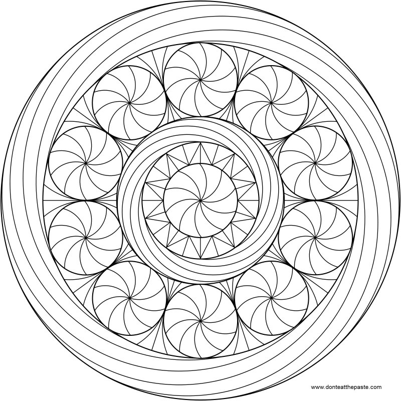 challenging mandala coloring pages - photo#12