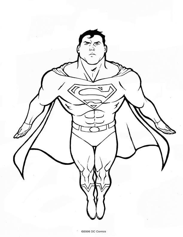 Coloring pages superman - picture 32