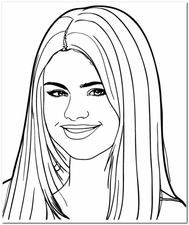 Smile Selena Gomez Coloring Pages Easy Coloring Pages For All