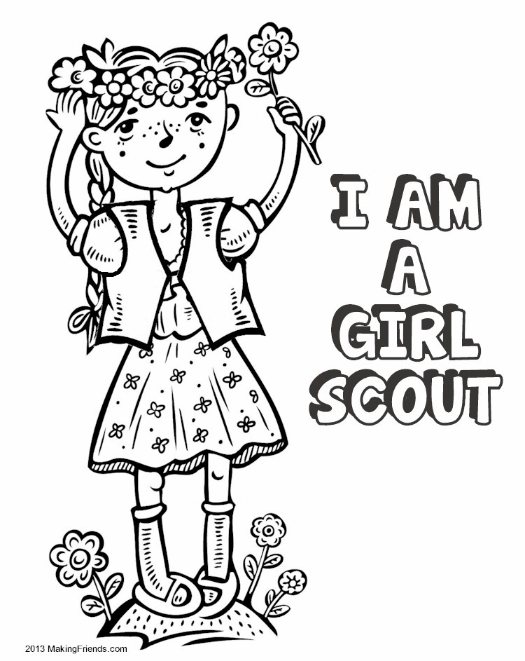 Daisy Girl Scout Coloring Pages Printable