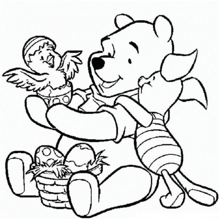 the pooh easter coloring pages - photo#6