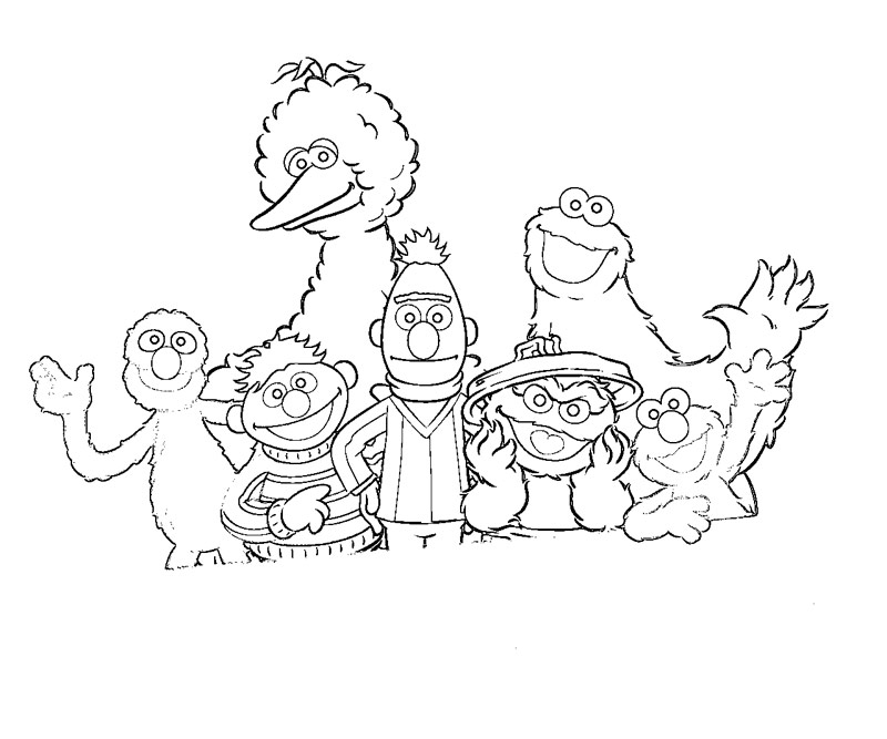 sesame street character coloring pages - photo#2