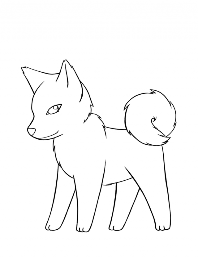 Baby Husky Coloring Coloring Pages