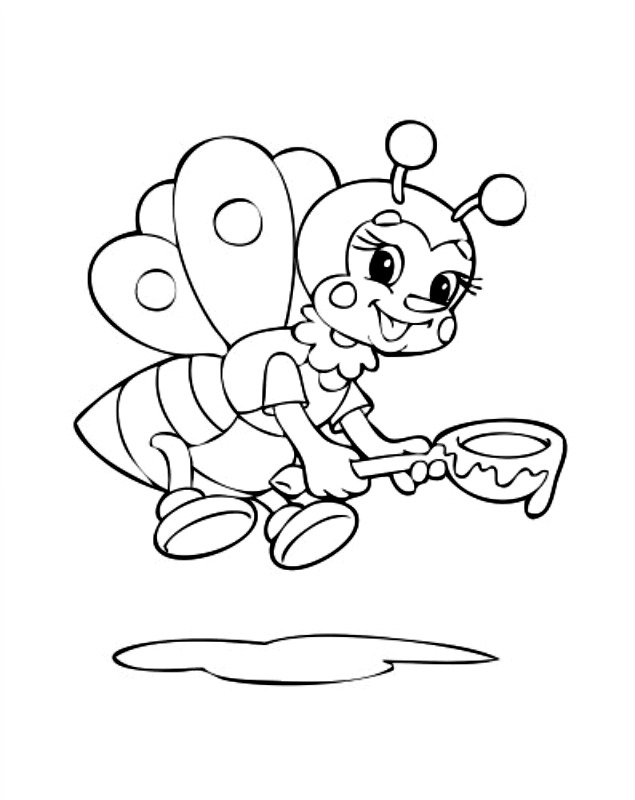 bumble bee template printable az coloring pages