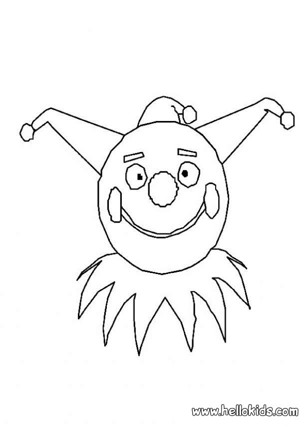 clown faces coloring pages - photo#25