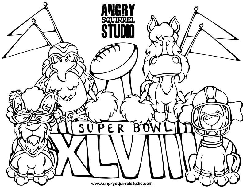 Seahawks Football Coloring Pages Countdown to The Super Bowl