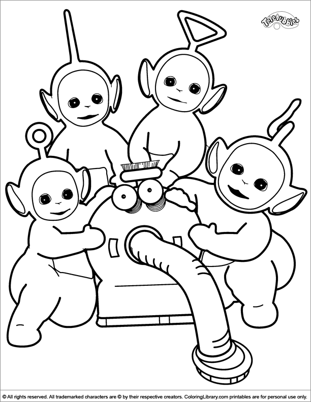 teletubby coloring pages