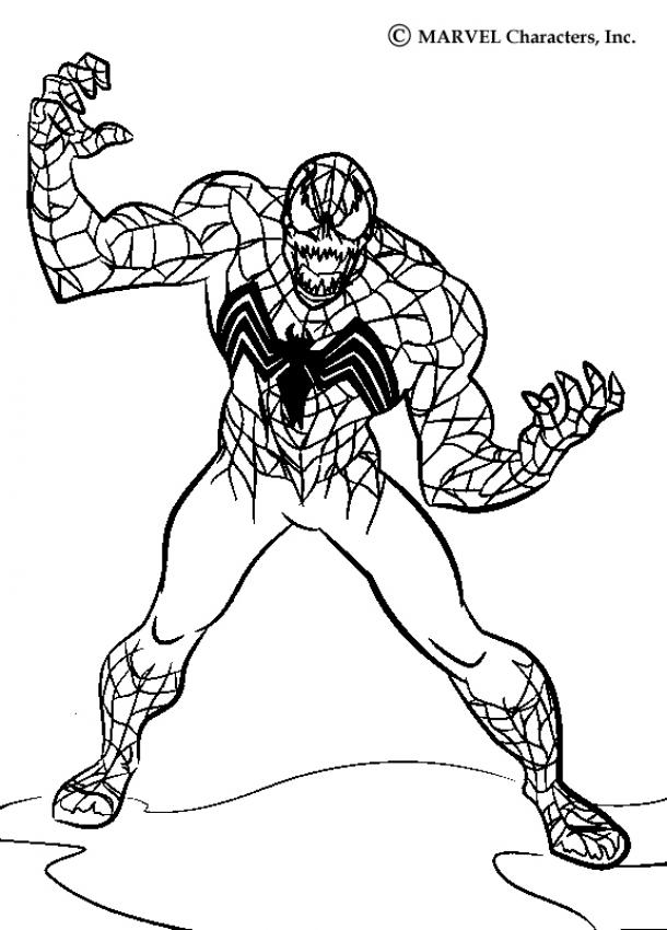 Spiderman Vs Venom Coloring Pages - Coloring Home