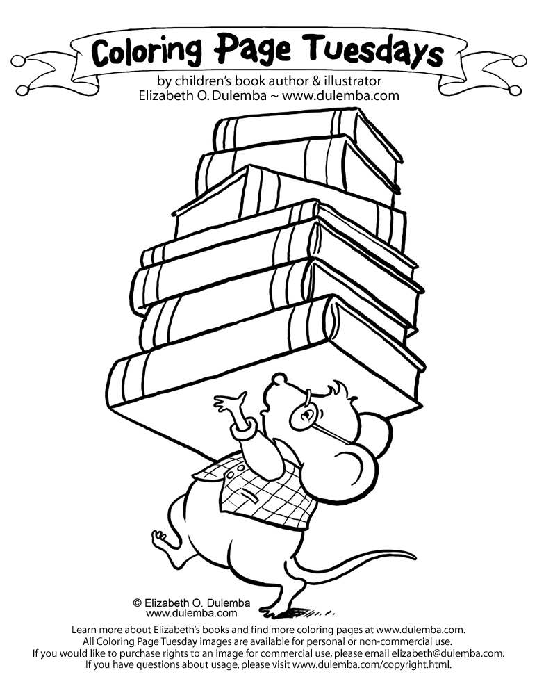 If you take a mouse to school coloring page az coloring for Librarian coloring page