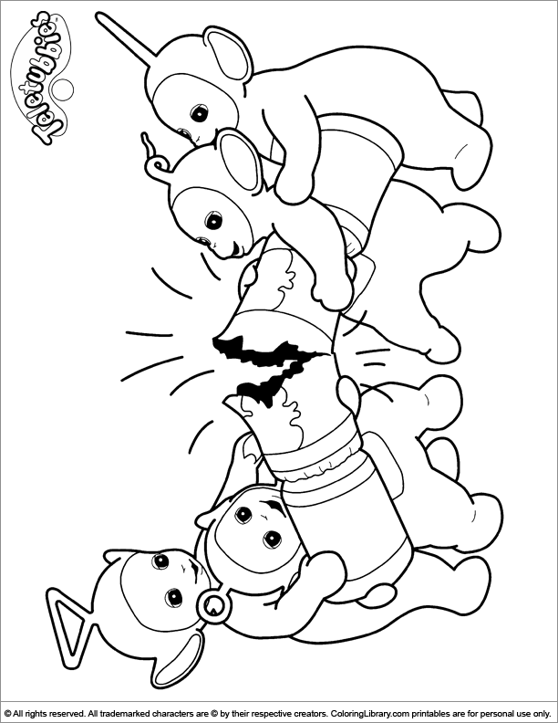 Teletubbies coloring pages in the Coloring Library