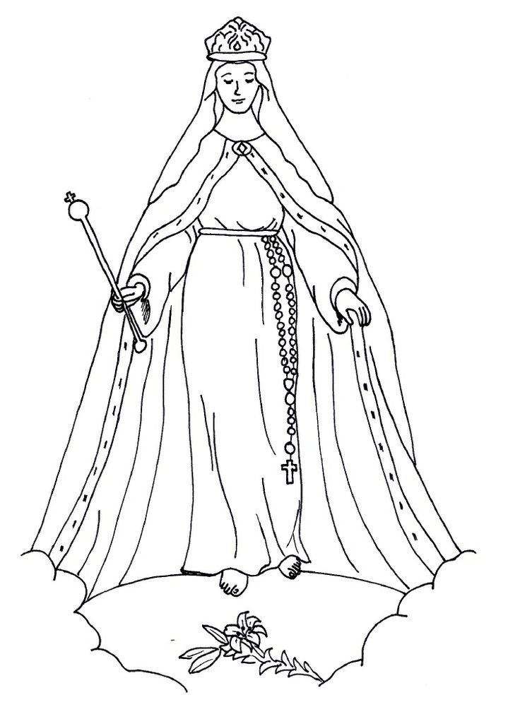 Printable Coloring Pages Virgin Mary : Mother Mary Coloring Pages Coloring Home