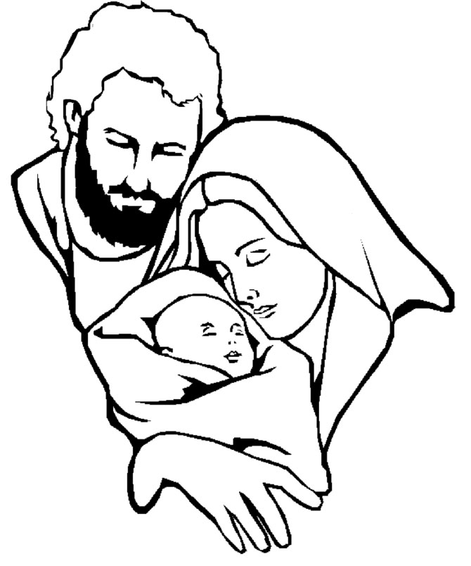 joseph mary coloring pages - photo#10