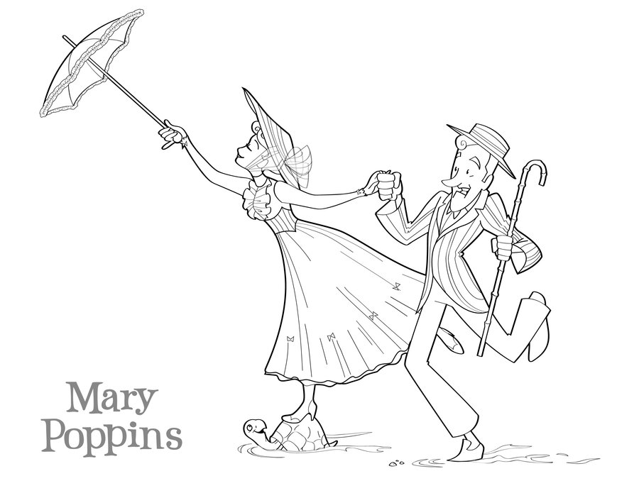deviantART: More Like Mary Poppins coloring page by BetterthanBunnies