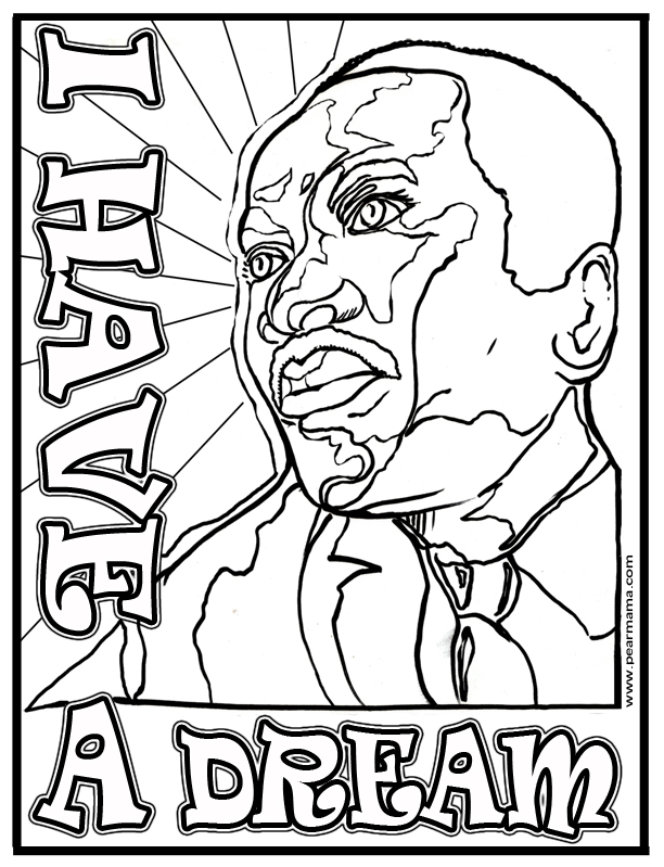 mlk printables coloring pages - photo#23