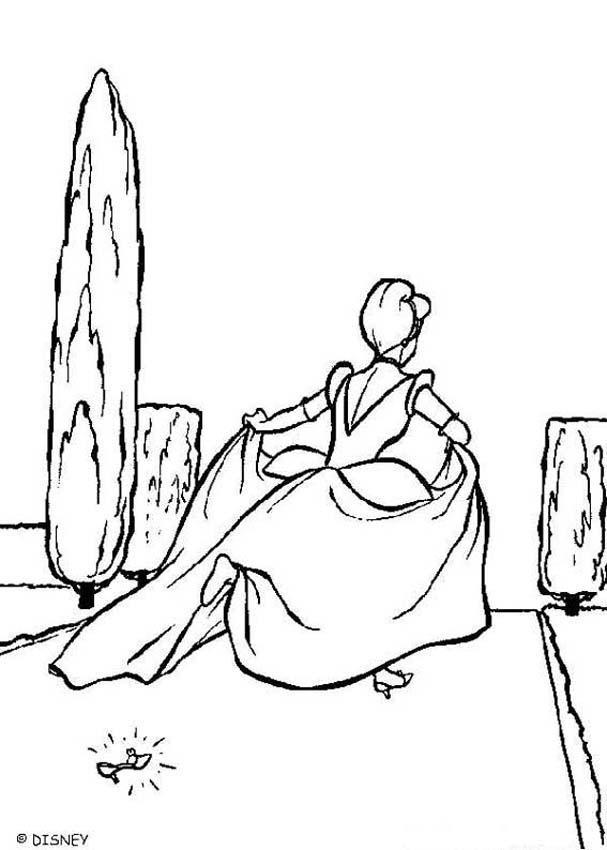 Cinderella Coloring Book Pages