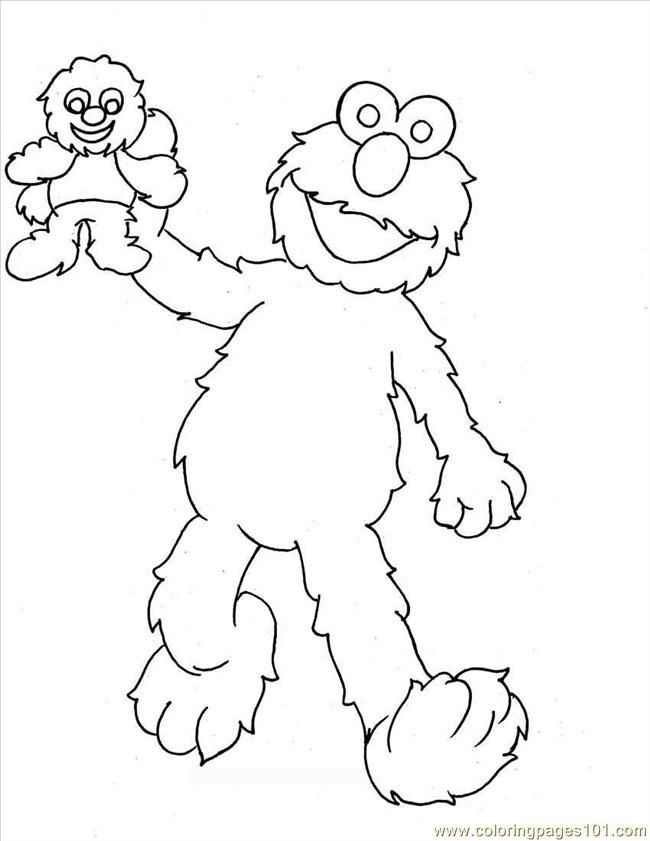 Coloring Pages Elmo Coloring Pages 2 Full (Cartoons > Elmo) - free