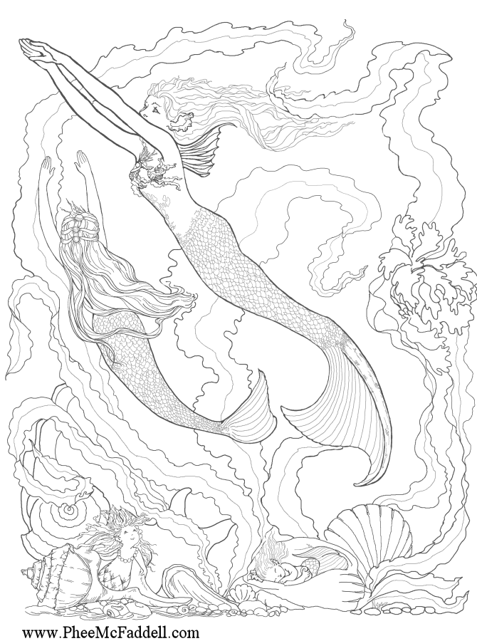 fantasy coloring pages online - photo#23