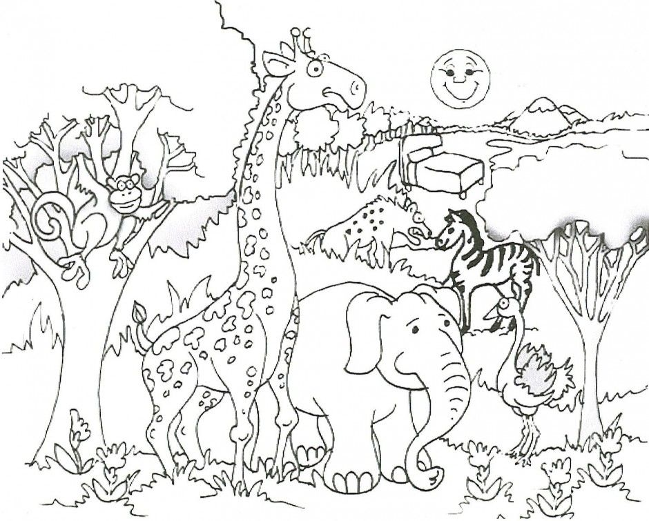 free kids safari coloring pages - photo#3