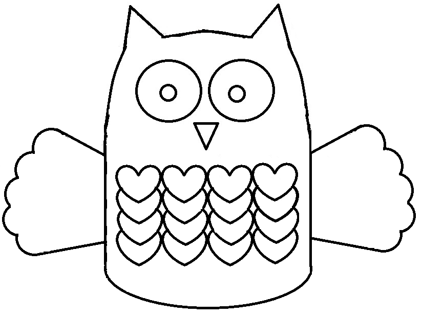 Owl Cut Out Template AZ Coloring Pages – Owl Template