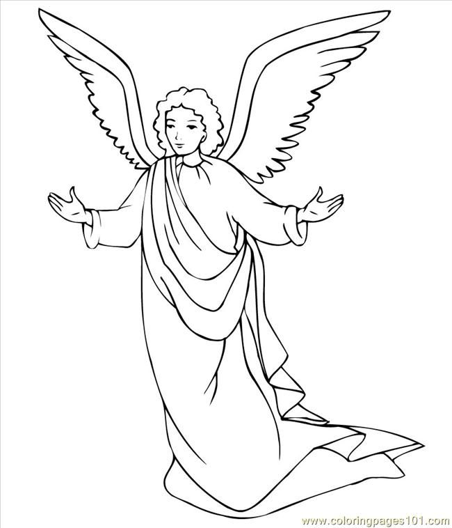 Coloring Pages Angel 3 Coloring Pages 7 Com (Holidays > Christmas