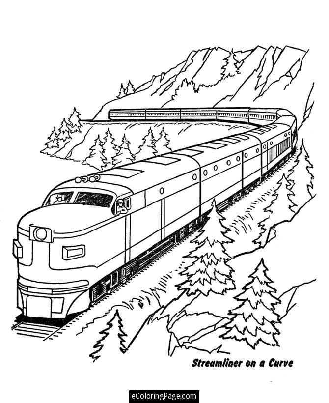 printable coloring pages of trains - photo#11