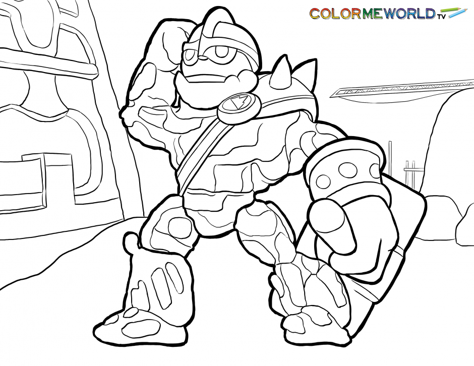 tree coloring pages skylanders giants tree rex coloring pages