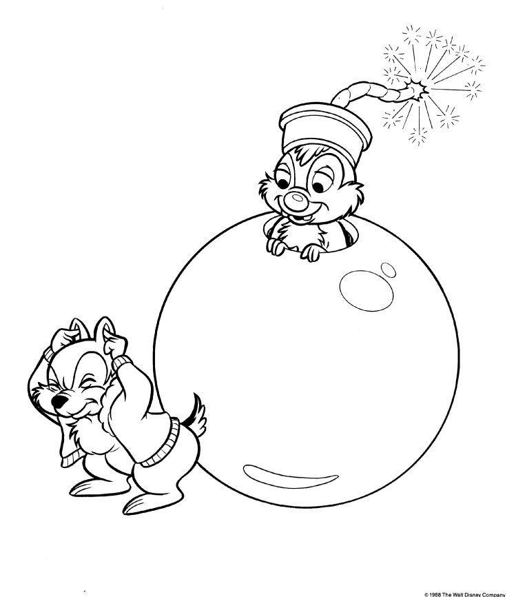 disneys chip dale coloring pages - photo#27