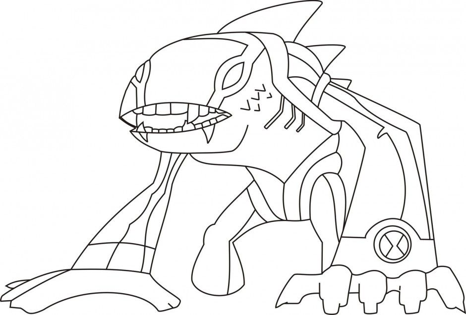 ben 10 ultimate coloring pages alien force coloring pages for kids
